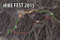 Trail map for the 10km hike for Fun