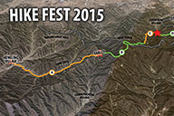Trail map for the 24km Challenge