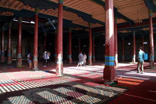 Inside the mosque - Bayinbuluke Grasslands, Xinjiang, July 2016