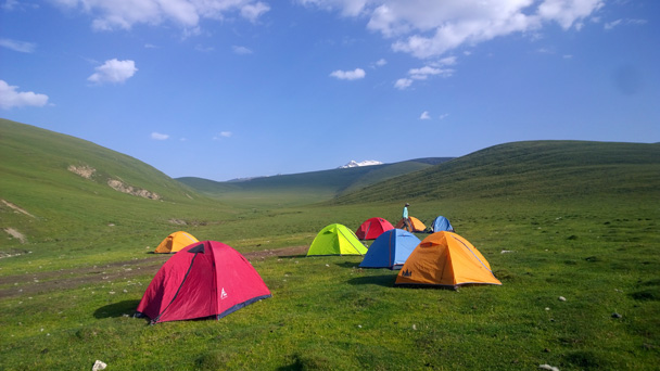 We woke up to a beautiful day on the grasslands - Bayinbuluke Grasslands, Xinjiang, July 2016