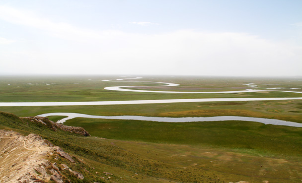 Views of the Bayinbuluke Wetlands Park - Bayinbuluke Grasslands, Xinjiang, July 2016