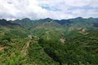 A view of valleys and hills in Pinggu District