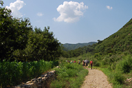 Hiking up into the hills of Huairou