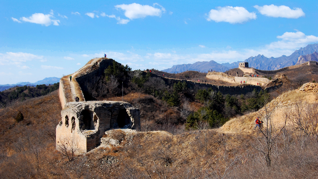 Gubeikou Great Wall | Hiking by a tower on the Great Wall at Gubeikou