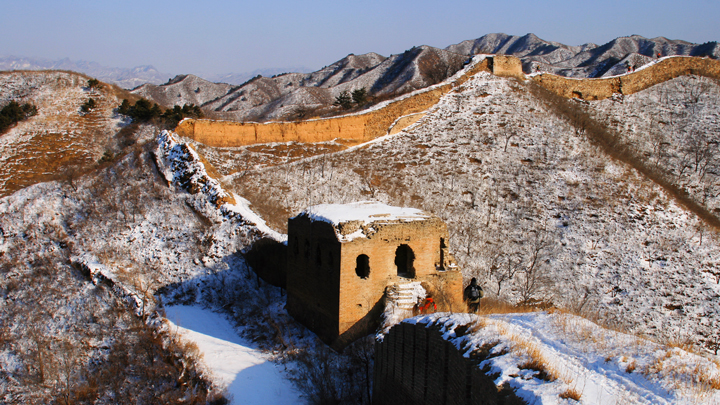 Gubeikou Great Wall | Snow on the Great Wall at Gubeikou
