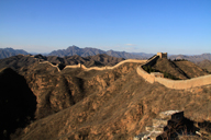 Looking back towards the Gubeikou Great Wall from Jinshanling