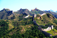 A wide view of the Great Wall at Jinshanling