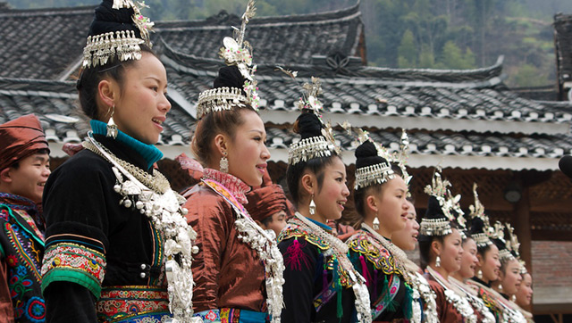 Dressed up for a performance, Guizhou