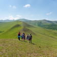 Hiking the ridgelines at the Bashang Grasslands, Hebei Province