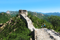A view of a tower on the Longquanyu stretch of Great Wall