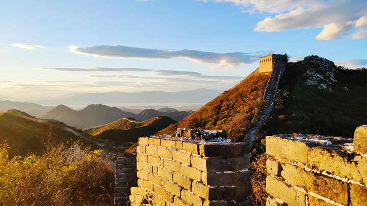 Late afternoon light on the Great Wall