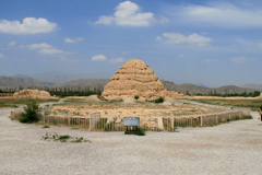 One of the mausolem' of the Western Xia Imperial Tombs