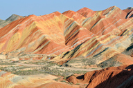 The coloured hills of the Zhangye Danxia Landform