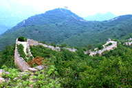 Views of the Great Wall near the Little West Lake