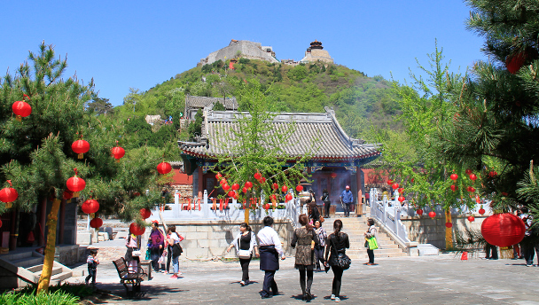 Yajishan | A view of the Yajishan temples, high on a hill