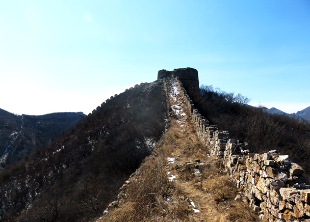 Up on the wall - Zhenbiancheng Great Wall Loop, 2017/2/25