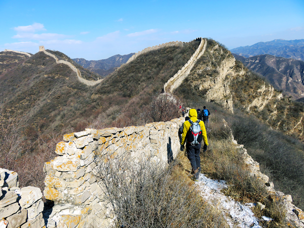 We hiked on along the wall - Zhenbiancheng Great Wall Loop, 2017/2/25
