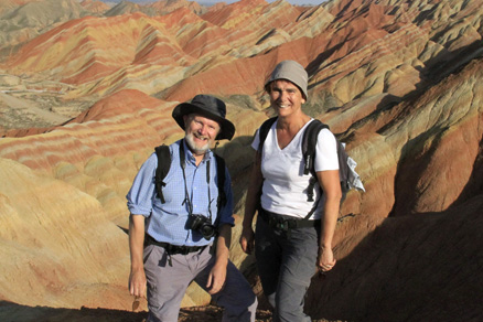 Happy hikers, Beijing Hikers Zhangye Danxia, October07, 2011