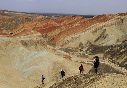 More views of the amazing colours, Beijing Hikers Zhangye, May, 2012