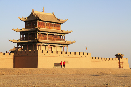 West Gate of the Jiayuguan Fortress, Beijing Hikers Full Moon hike, April07, 2012