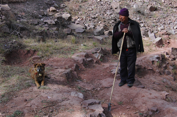 The shepherd and his working dog, Beijing Hikers Two days in Pingyao Ancient City , 2013/04/06