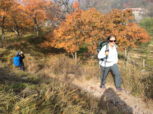 Our hikers enjoyed the beauty of the autumn colors - Walk Down the Incense Trail hike, 2014/10/23