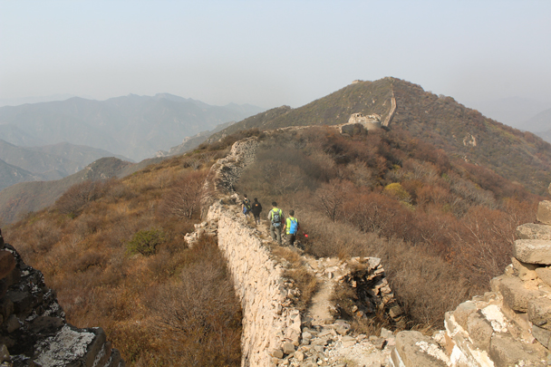 The Hike for Fun trail followed a line of unrestored Great Wall - Hike Fest 2015