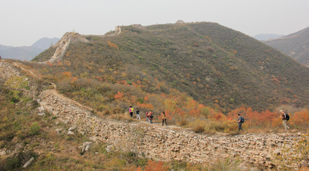 The Hike for Fun followed this ruined line of Great Wall to a pass - Hike Fest 2015