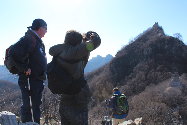This part of the hike was on a line of wall that is mostly ruined - Jiankou Big West Great Wall, 2015/02/11