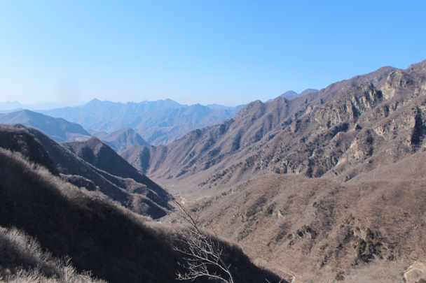 Views of mountains - Jiankou Big West Great Wall, 2015/02/11