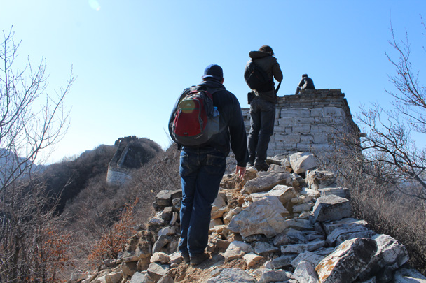 Getting on to the part of the wall that's in better condition - Jiankou Big West Great Wall, 2015/02/11