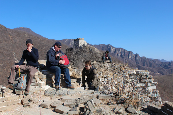 Taking a break - Jiankou Big West Great Wall, 2015/02/11