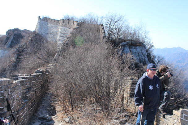 We hiked on, on top of the Great Wall - Jiankou Big West Great Wall, 2015/02/11