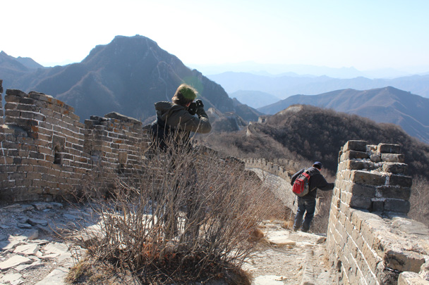 We continued along the wall - Jiankou Big West Great Wall, 2015/02/11