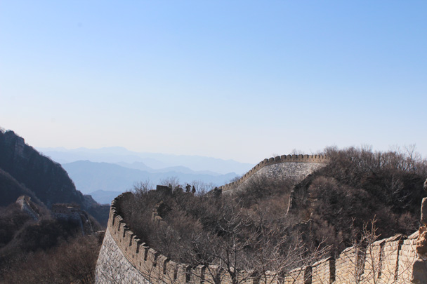 Good view of the curves in the wall here - Jiankou Big West Great Wall, 2015/02/11