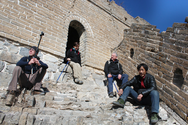 Short break before continuing - Jiankou Big West Great Wall, 2015/02/11