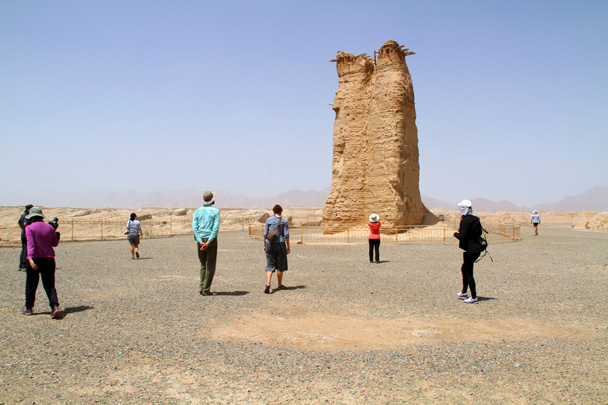 On our way to the grasslands we stopped for a look at this Han Dynasty-era  (206 BC-220 AD beacon tower - Bayinbuluke Grasslands, Xinjiang, July 2016