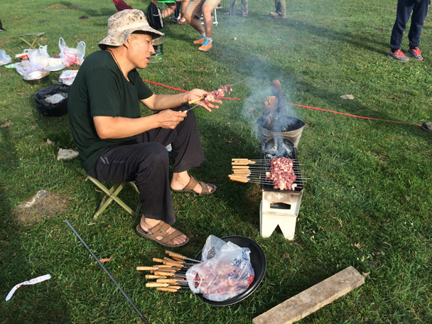A second course of kebabs - Bayinbuluke Grasslands, Xinjiang, July 2016