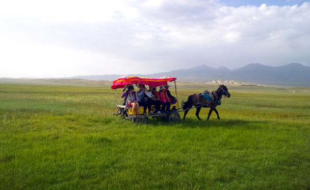 We took a local taxi - Bayinbuluke Grasslands, Xinjiang, July 2016