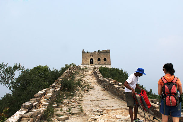 On the Great Wall, just below the General's Tower - Jiankou to Mutianyu Great Wall, 2015/7/11