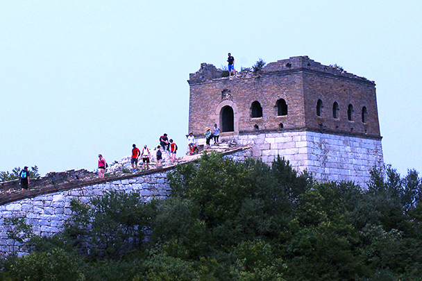Looking back at the General's Tower - Jiankou to Mutianyu Great Wall, 2015/7/11