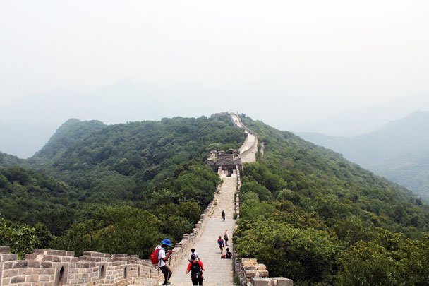 Arriving at Mutianyu - Jiankou to Mutianyu Great Wall, 2015/7/11