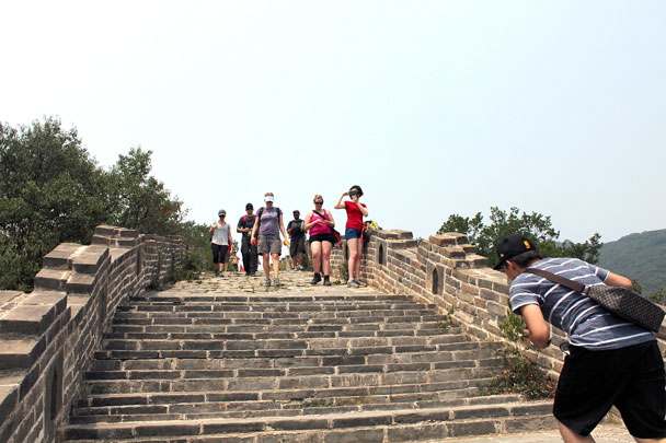 This part of the Great Wall is fully restored - Jiankou to Mutianyu Great Wall, 2015/7/11