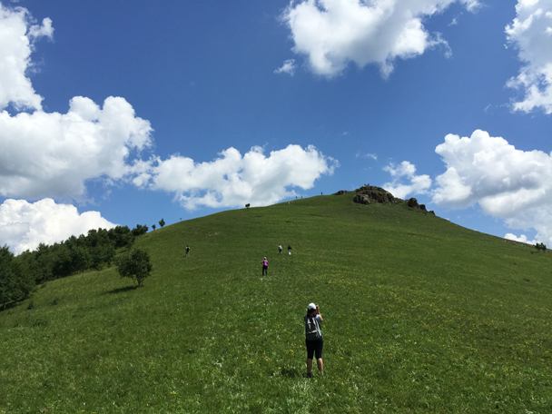 We made the climb up to a rocky peak - Bashang Grasslands, August 2015