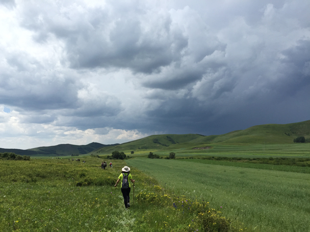 The clouds came over – looked like we might get wet, but no rain - Bashang Grasslands, August 2015