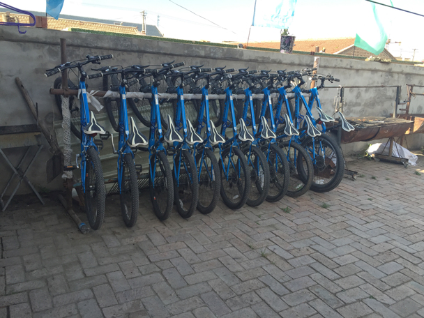 Bikes for rent at our guesthouse - Bashang Grasslands, August 2015