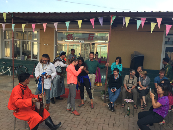 At the guesthouse we invited local musicians to perform for us - Bashang Grasslands, August 2015