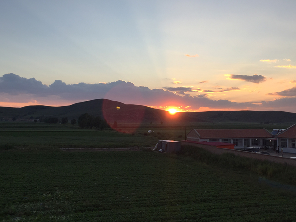 Sunset over the grasslands - Bashang Grasslands, August 2015