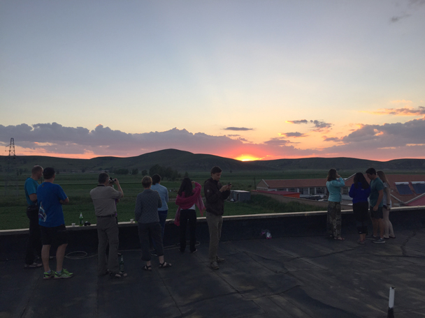 We watched sunset from the roof of the guesthouse - Bashang Grasslands, August 2015
