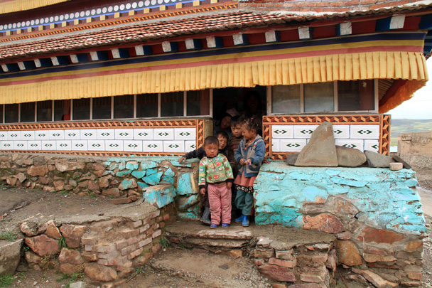 Village kids, a little shy! - Xiahe, Labrang Monastery, and Zhagana, Gansu Province, September 2015